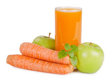 Glass with carrot juice Royalty Free Stock Photography