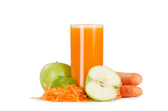 Glass with carrot juice Royalty Free Stock Images