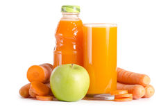 Glass with carrot juice Royalty Free Stock Image