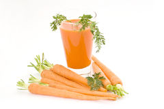 Glass of carrot juice royalty free stock photography