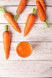 Glass of carrot juice Stock Photo
