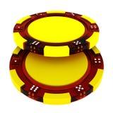 Glass Casino tokens Stock Photo