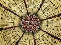 Glass Ceiling. Stained Glass Ceiling Royalty Free Stock Photos