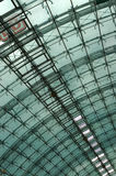 Glass ceiling. Architectural Glass ceiling royalty free stock image