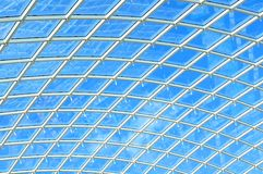 Glass ceiling. Architectural detail of glass ceiling royalty free stock images