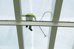 Glass Ceiling Being Cleaned Stock Images