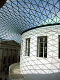 Glass Ceiling, British Museum. Glass Ceiling and Interior of British Museum, London, UK royalty free stock photos