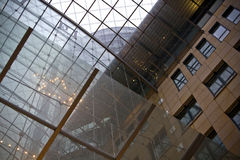 Glass ceiling in building Royalty Free Stock Image