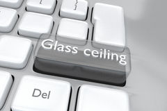 Glass ceiling concept Royalty Free Stock Image