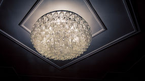 Glass ceiling fixture Royalty Free Stock Images