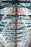 Glass ceiling footbridge. Royalty Free Stock Photography