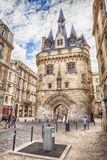 Porte Cailhau in old part of Bordeaux Stock Images