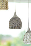 Glass ceiling lights. Dining room glass ceiling lights Stock Image
