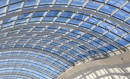 Glass ceiling modern architecture details Stock Photos