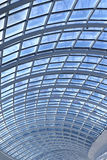 Glass ceiling modern architecture details vertical image Royalty Free Stock Photography