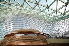 Glass ceiling in office building. Glass ceiling in modern office building royalty free stock photo