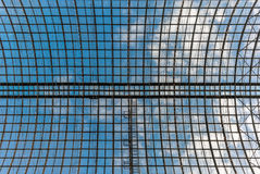 Glass ceiling of a shopping mall in Moscow. In Russia Stock Image