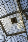 Glass ceiling. Was teken in a glass palace Royalty Free Stock Images