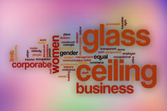 Glass ceiling word cloud with abstract background Royalty Free Stock Image