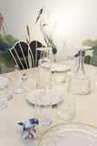 Glass and ceramic Dishware Royalty Free Stock Photography