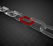 Glass chain Royalty Free Stock Image