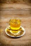 Glass of chamomile - camomile tea Stock Photos