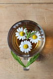 Glass of chamomile tea Stock Images