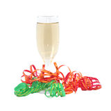 Glass of champagne. Isolated object Royalty Free Stock Photos