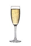 Glass of Champagne. Glass with champagne, isolated on a white background