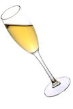A glass of champagne Stock Photos