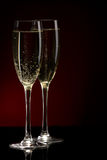 A glass of champagne Royalty Free Stock Photography