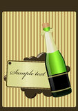 Glass of champagne. Green glass of champagne and gap for sample text Stock Images