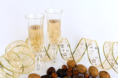 Glass of champagne . Royalty Free Stock Photo