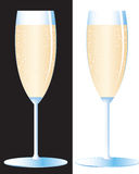 Glass of the champagne Stock Images