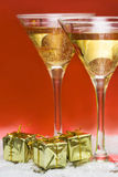 Glass with champagne Royalty Free Stock Image