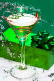 Glass with champagne Stock Images