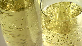 Glass with champagne stock video footage