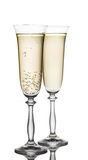 Glass of champagne closeup Royalty Free Stock Photo