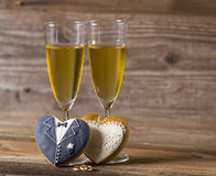 Glass with champagne Royalty Free Stock Photography