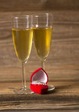 Glass with champagne Royalty Free Stock Images