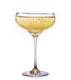 Glass of champagne isolated on a white Stock Photo