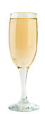 Glass of champagne. Isolated on white background Stock Image