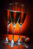 Glass of champagne with strawberry Royalty Free Stock Image
