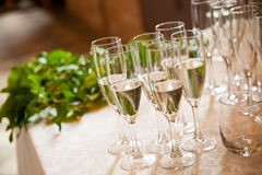 Wedding toast. Champagne glasses for wedding day Royalty Free Stock Images