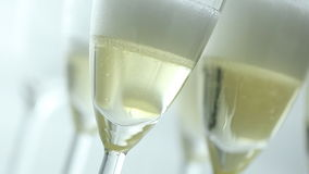 Glass of champagne stock video