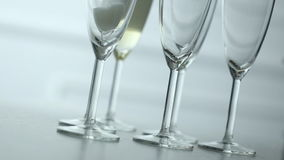 Glass of champagne stock video footage