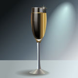 Glass of champagne, vector Stock Photography