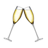 Glass of Champagne Vector Illustration Stock Images