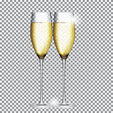 Glass of Champagne Vector Illustration Royalty Free Stock Photography
