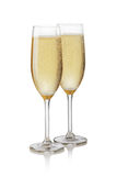 Glass of champagne. On a white background Stock Images
